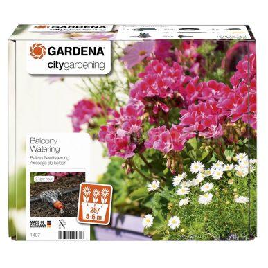 Automatické zavlažovanie kvetinových truhlíkov, Gardena