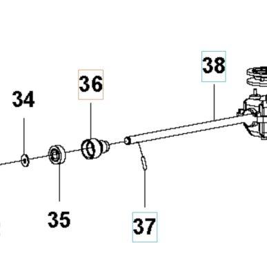 Držiak ložiska prevodovky pre Husqvarna LC 140S