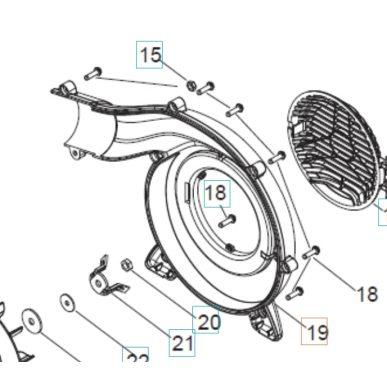 Kryt motora pre Husqvarna 125BVX